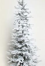 """Flocked Tree w/ Burlap Base 48"""""""