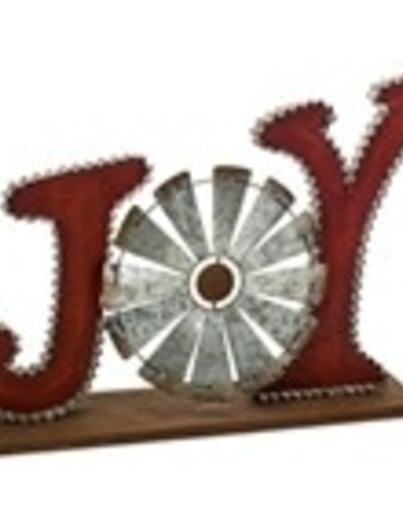 "JOY/Windmill 20""L x 14H Metal"