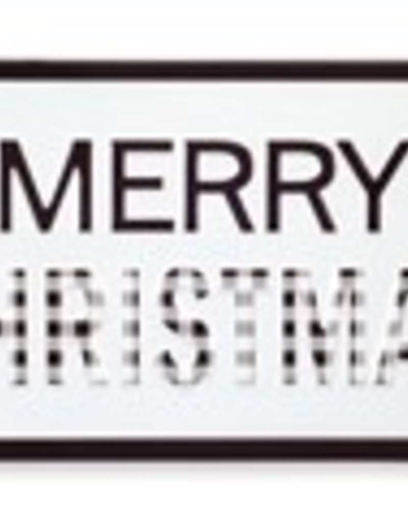 Merry Christmas Blck/Wht Sign