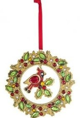 "3.75"" Cardinal Wreath Ornament"