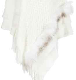 Fur Shawl with Fringe