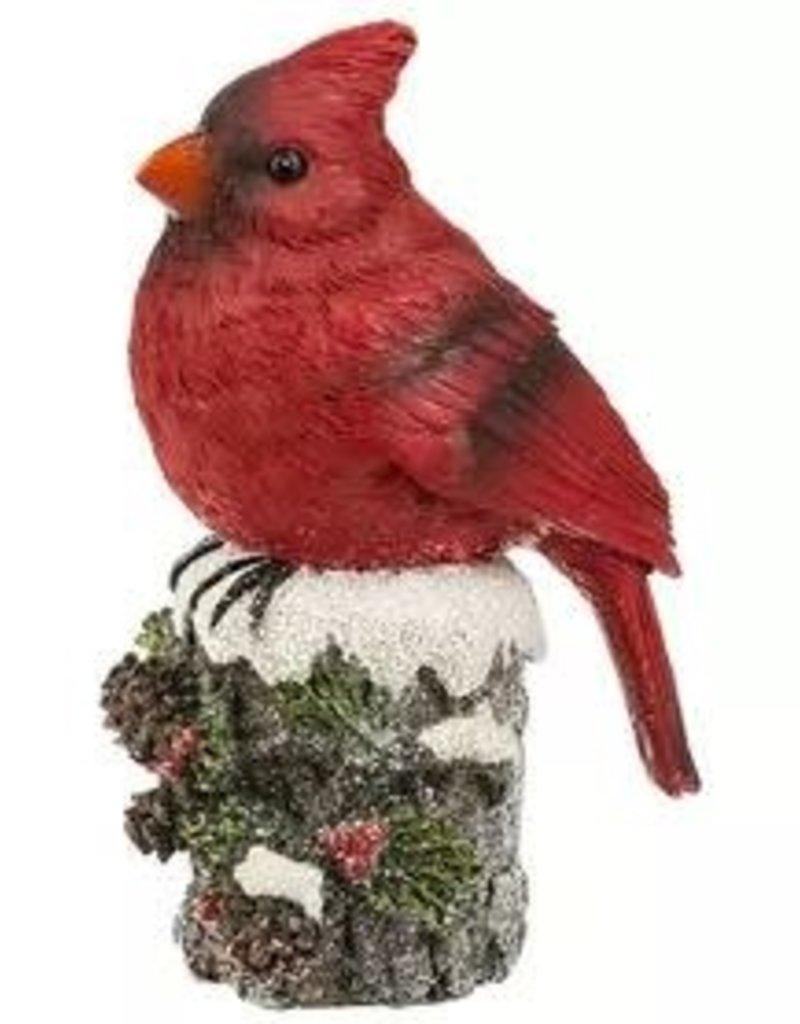 Cardinal On Log Figurine