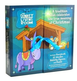 Donkey In The Living Room Nativity Set w/Book