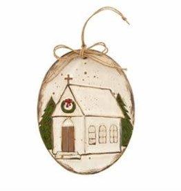 Church Farmhouse Ornament