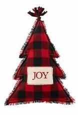 Joy Red Buffalo Check Cmas  Tree Pillow