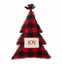 Joy Red Buffalo Check Cmas  Tree Pillow