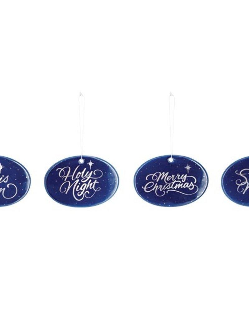 FLAT CERAMIC STARRY NIGHT BLUE ORNAMENTS