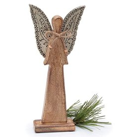 "14"" WOODEN ANGEL SILHOUETTE FIGURINE"