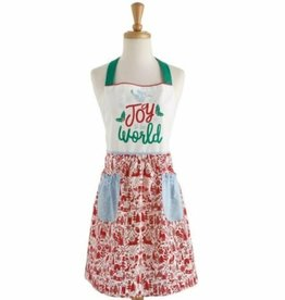 Joy to the World Printed Christmas Apron