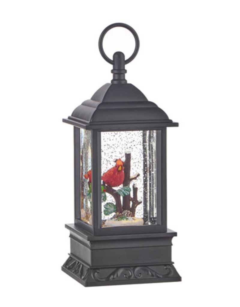 "9.5"" CARDINAL LIGHTED WATER LANTERN"