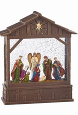Lighted Musical Nativity Water Creche