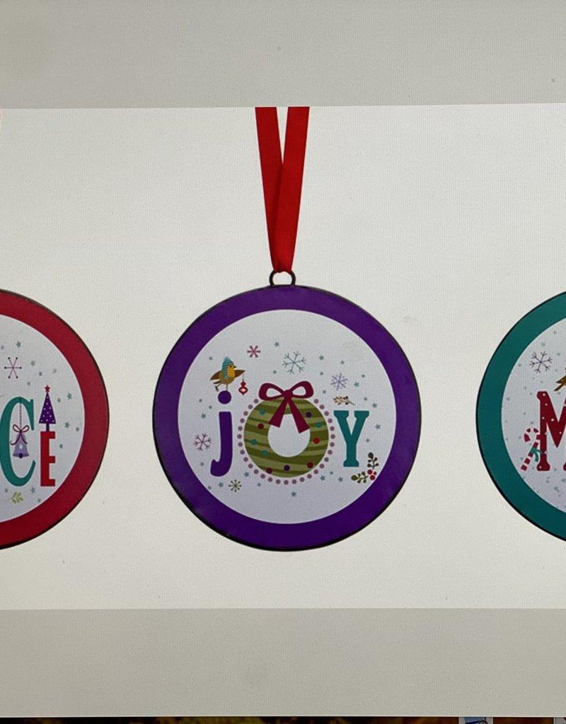 Peace, Joy , Merry Ornaments