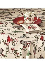"Birds and Berries Tablecloth 84""x 60"""