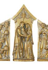 "3 Piece Gold  Nativity -19.5"""