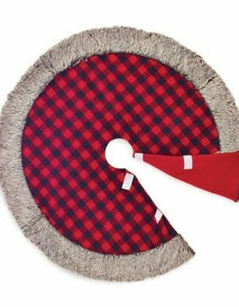 "48"" Buffalo plaid tree skirt"