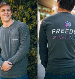 Freedom: Long-sleeve Gray T-shirt