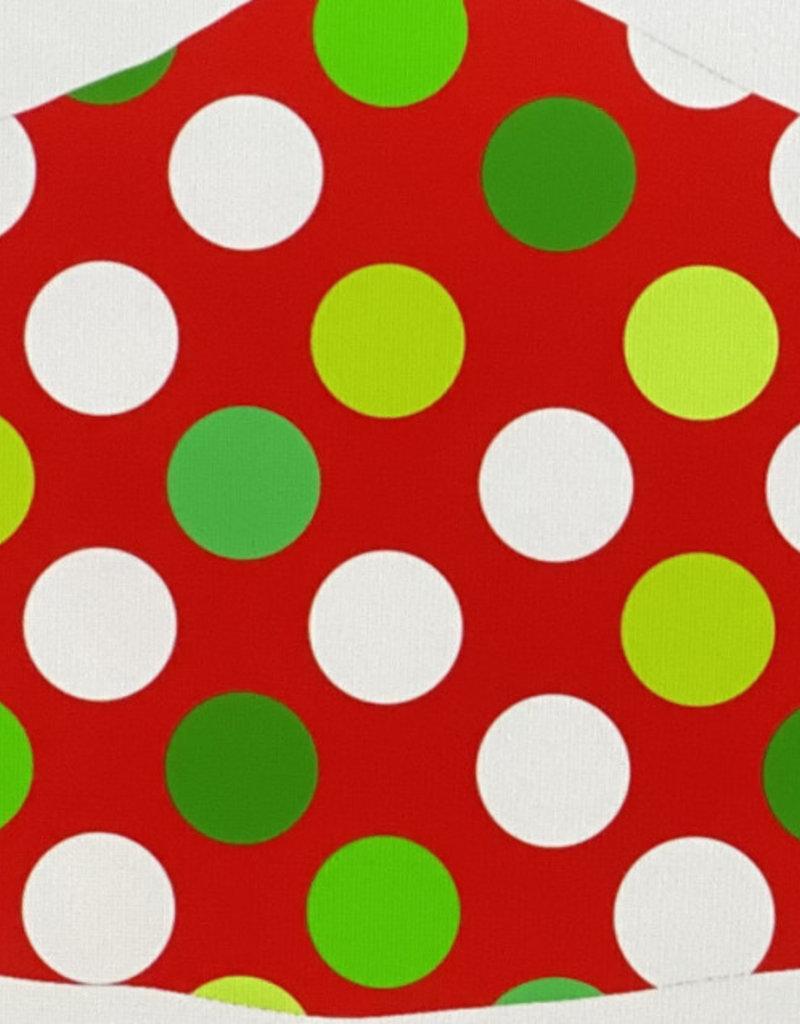 Face Mask- Polka Dot Red