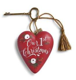 Art Heart Our First Christmas