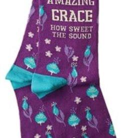 Socks- Amazing Grace Purple