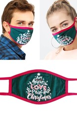 Face Mask-Joy, Love, Hope, Peace Christmas