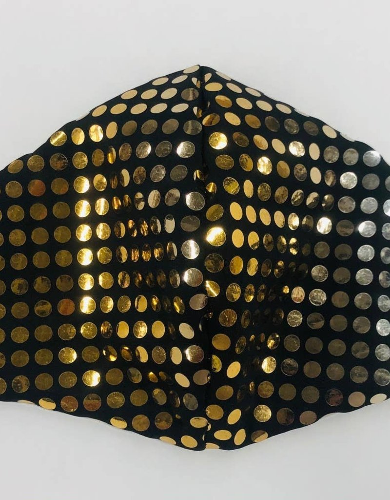 Face Mask- Gold Reflective Sequin