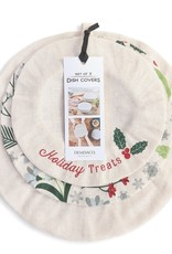 Holiday Treats Set of 3 Dish Covers