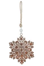 Perforated Snowflake Ornament - Lg