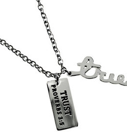 Proverbs 3:5  Trust Necklace