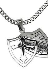 Armor of God Full Shield Cross Necklace
