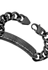 """Black Sport Bracelet """"Forgiven By God"""""""