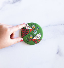Musical Angels Round Magnet