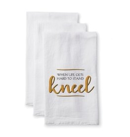 TOWEL WHEN LIFE GETS HARD TO STAND KNEEL