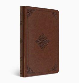 LARGE PRINT VALUE THINLINE BIBLE, TruTone, Tan Ornament Design