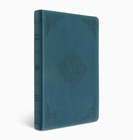 ESV Thinline, deep teal w/ rotunda design