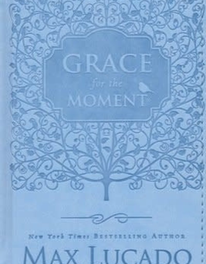 Grace For The Moment (Womens Edition)-Blue Leathersoft