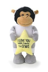 "14"" Astronaut Monkey with Heart"