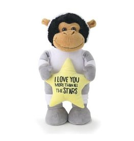 "14"" Astronaut Monkey with Heart"