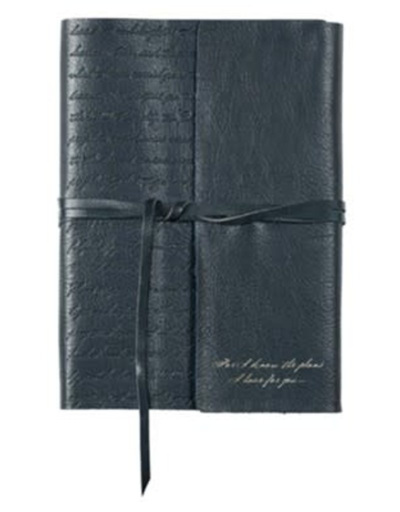 For I Know the Plans Journal, Genuine Leather, black with Wrap Closure