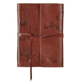Faith Journal, Genuine Leather, Brown with Wrap Closure
