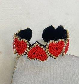 Glitzy Heart Bracelet