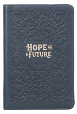 Hope & a Future Navy Handy-sized Full Grain Leather Journal - Jeremiah 29:11