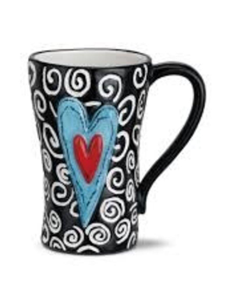White Swirls Mug