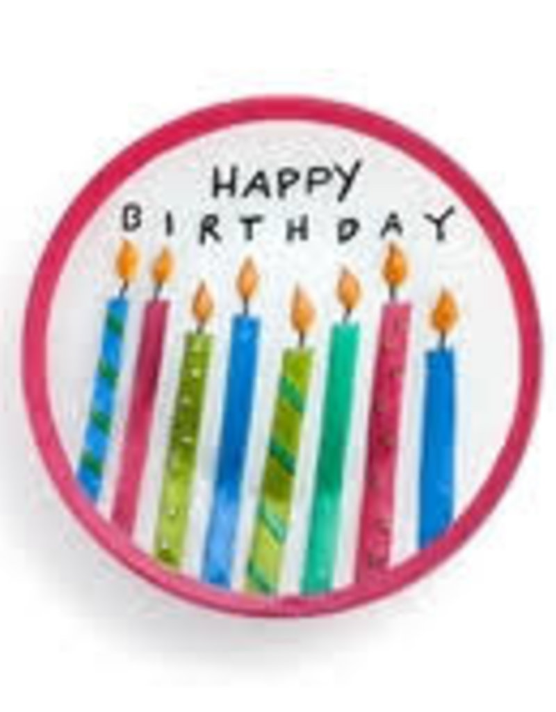 Birthday Candles Round Plate