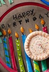 Birthday Candles Round Plate