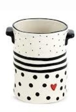 Black Dots & Stripes Crock