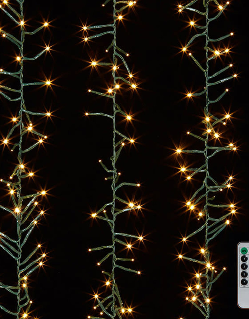 44' LED CLUSTER LIGHT GARLAND W/REMOTE