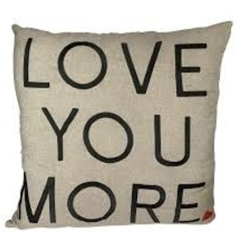Heart Love You More Pillow