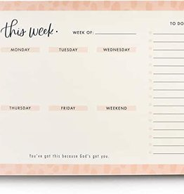 Weekly Desk Pad Modern J2392