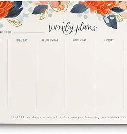 Weekly Desk Pad Floral J2391