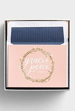 BLANK EMBELLISHED NOTECARDS GRACE & PEACE  95051
